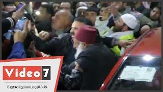 حافظ سلامة يشارك فى تشييع جثمان عمر عبد الرحمن بمسط رأسه بالدقهلية