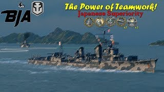 World of Warships- The Power of Teamwork!- Japanese Superiority