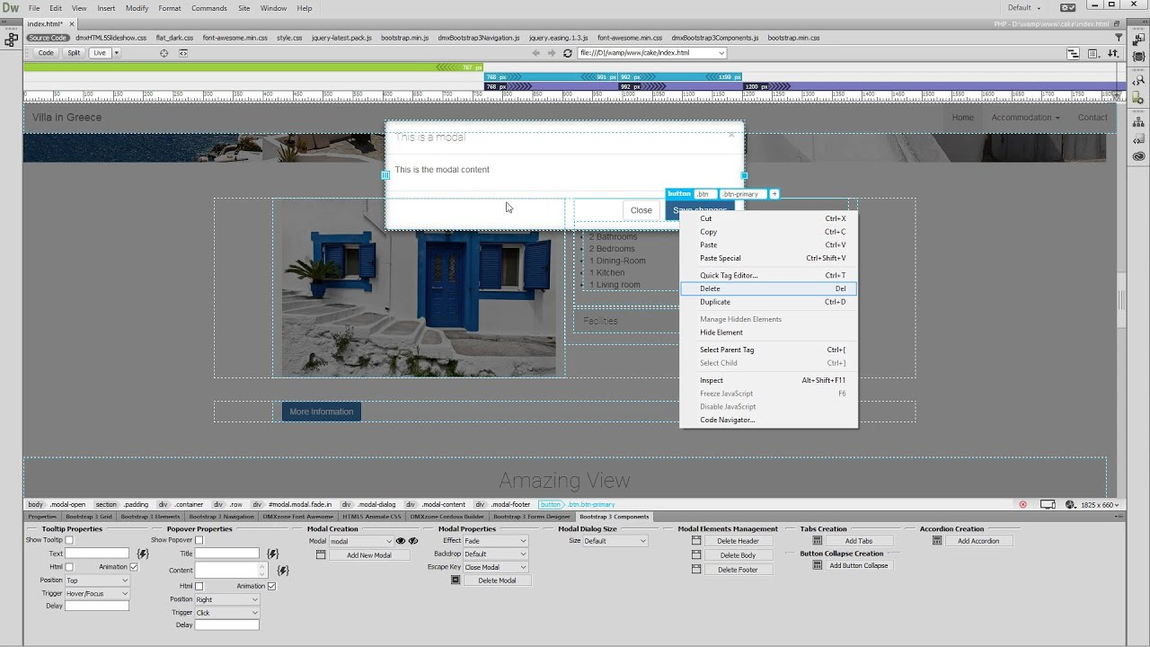 Add Modals with Bootstrap 3 Components - Videos - DMXzone COM
