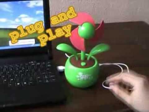mini-usb-desk-fan-review,-apple-sunflower-design