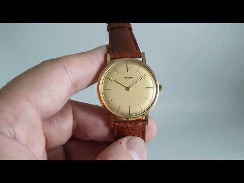 C1965 Jean Perret Geneve Men's Vintage Dress Watch With Peseux Movement