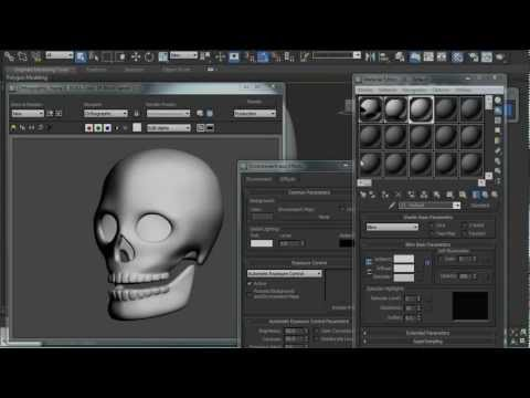 Spline Cage Tutorial - Model a 3D Human Skull in 3ds Max