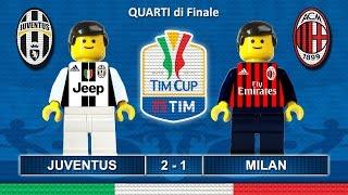 Tim Cup 2017 • JUVENTUS MILAN 2-1 • Coppa Italia 2017 ( Film Lego Calcio ) Sintesi Goal 25/01/2017