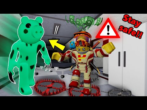 ROBLOX DINOPIGGY TRAPS ME!! PIGGY KEEPS MUTATING!!