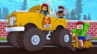 Minecraft : COMPREI UM CARRO NOVO PARA ENTREGAR PIZZA ! #03