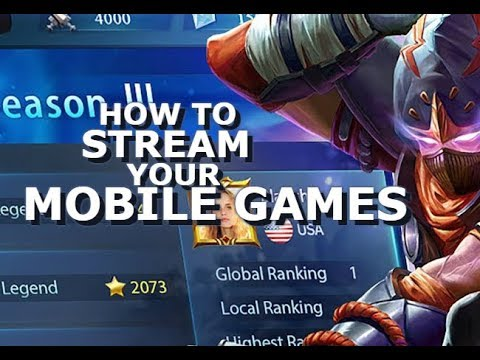 How to Stream your Mobile Games - Mobile Legends - Guide - Giveaway