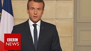 France's President Macron calls on the world to  make our planet great again    BBC News