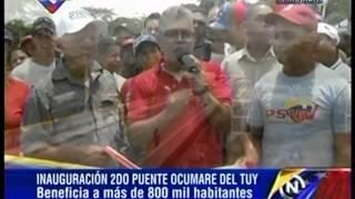 Elias Jaua inaugura segundo puente de salida en Ocumare del Tuy