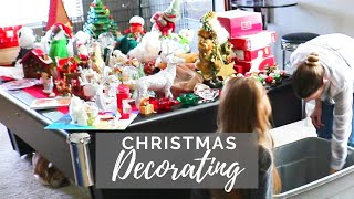 CHRISTMAS DECORATE WITH ME // Cleaning Mom // Christmas Time