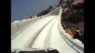 Avalanche Bobsled Roller Coaster POV Blackpool Pleasure Beach England UK