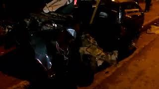 CONDUCTOR GRAVEMENTE HERIDO EN CHOQUE FRONTAL