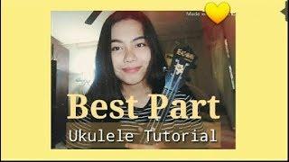 Download Lagu BEST PART EASY UKULELE TUTORIAL - Daniel Caesar ft. H.E.R Mp3