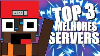TOP 3 SERVERS DE MINECRAFT 1.8 (pirata e original) UM SERVER É VIP FREE CORREEE!!!!