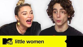Little Women's Timothée Chalamet & Florence Pugh Play Guess The Famous Movie Sisters | MTV Movies