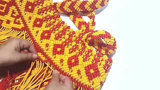 Download Video Part 6. DIY Macrame tote bag, membuat motif kalimantan pada tas tali kur MP3 3GP MP4