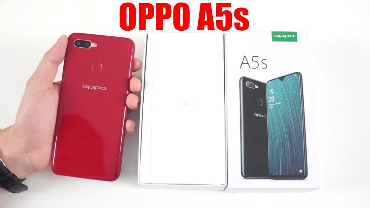 Mở hộp OPPO A5s Pin CỰC TRÂU ngoại hình giống OPPO F9