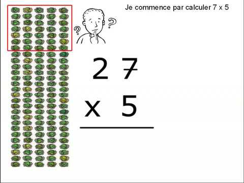 Technique multiplication ce1 youtube for Multiplication ce1