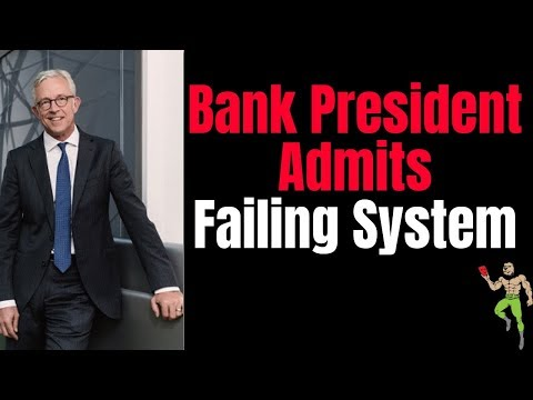 BANKS ARE DRY!!! Bankers President Admits Bankruptcy Collapse of The Money System