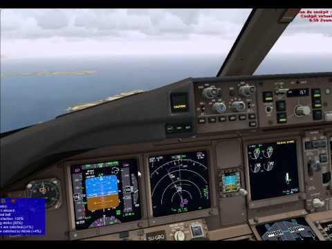 777PMDG with REX real time weather flight LFLC-LFMN (Nice)
