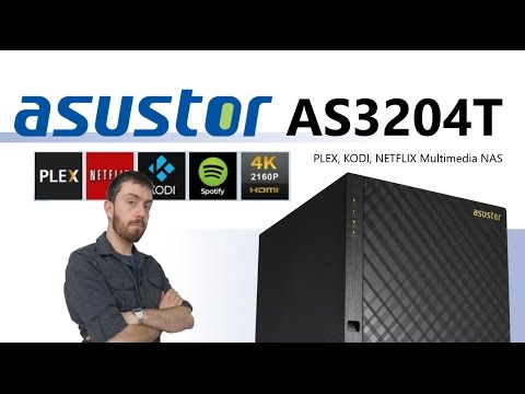 The Asustor AS3204T Plex, Kodi and Netflix Multimedia NAS 4-Bay with 4K HDMI Support Unboxing