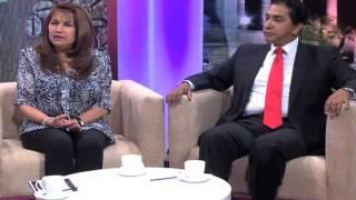 Lucio Gutierrez y Ximena Bohorquez en un Café con Meche