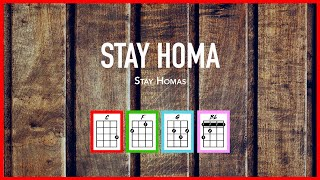🏠STAY HOMA/Confination Song II (Stay Homas) - Ukelele Tutorial & Cover Play-Along