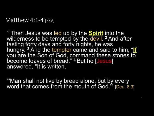 2021 01 09 Jesus Fast & Temptation