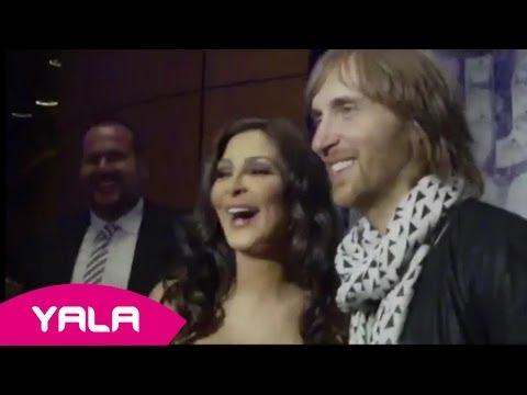 Elissa And David Guetta - World Music Awards - Photo Call