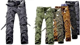 Полевые, походные, тактические, армейские или военные мужские штаны с карманами (aliexpress)(Купить полевые, походные, тактические, армейские или военные мужские штаны можно здесь: http://ali.pub/o3h9l или..., 2015-10-30T12:35:03.000Z)