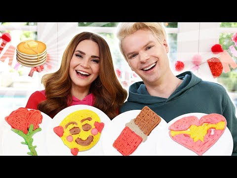 PANCAKE ART CHALLENGE With My Boyfriend!!!