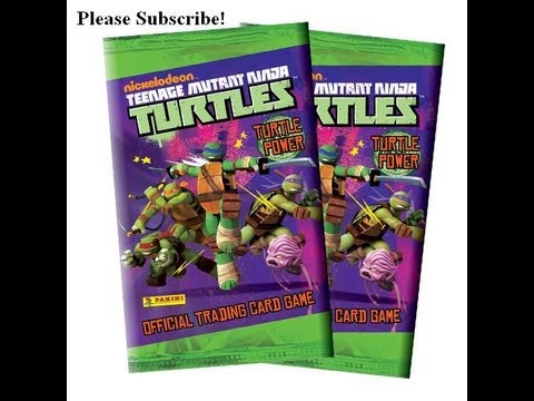 Teenage Mutant Ninja Turtles card display opening TMNT Tini