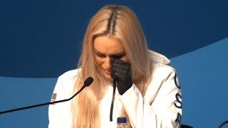 Lindsey Vonn Press Conference - Becomes Tearful Remembering Her Late Grandfather - PyeongChang 2018