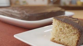 Yogourt Cake With Chocolate Ganache Icing Recipe - Legourmettv