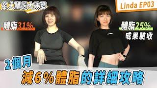外食族如何減6%體脂肪?瘦腰、練臀菜單分享 Ft.電獺少女Linda 『電獺少女來減脂EP03』