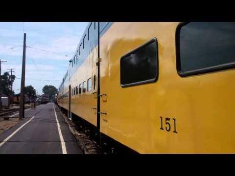 CNW Pullman Standard Cab Car 151 St Louis Car Company 1, 6 EMD F7 411 Station Platform 2 IRM