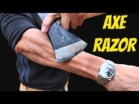 Make Any Axe Razor Sharp In 90 Seconds - No Skill Required