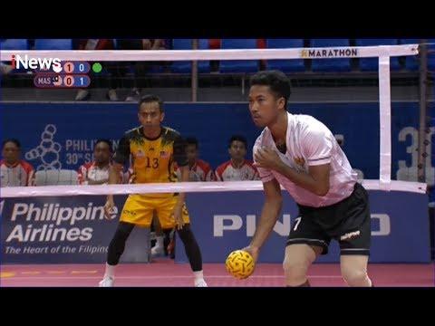 Sepak Takraw (INA) Indonesia Vs (MAS) Malaysia - SEA Games 2019