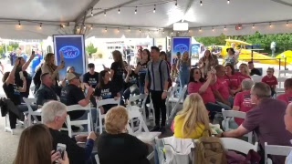Ryan Seacrest Joins American Idol Auditioners at Denver Auditions - American Idol on ABC