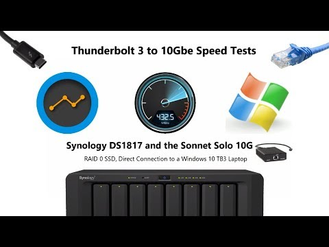 10Gbe Speed Tests - Synology DS1817 10Gbe NAS - YouTube