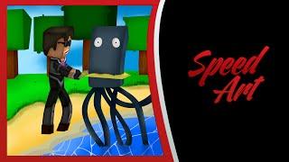 Minecraft fanART : SkyDoesMinecraft : The SQUID SLAYER !