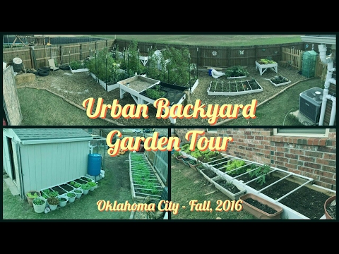 Urban Garden Tour - How We Grow Food For Our Family of 6 in Our Backyard (Fall 2016)