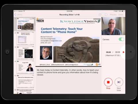 Getting Started with the Knovio Mobile 1.3 Video Presentation App for iPad