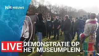 LIVE 🔴 Noodbevel van kracht in Amsterdam, honderden demonstranten op Museumplein