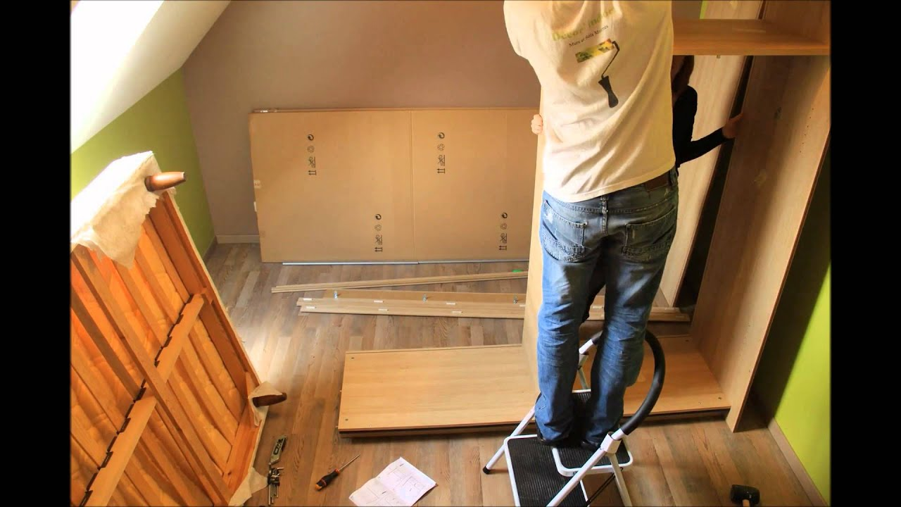 timelaps montage d une armoire youtube. Black Bedroom Furniture Sets. Home Design Ideas
