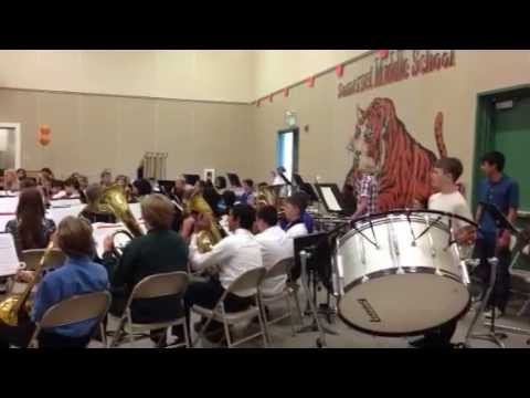The Great Locomotive Chase-Somerset Middle School Percussion/Brass