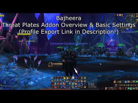 Bajheera Threat Plates Settings (Nameplate Addon Overview) - Profile Export Link in Description! :D