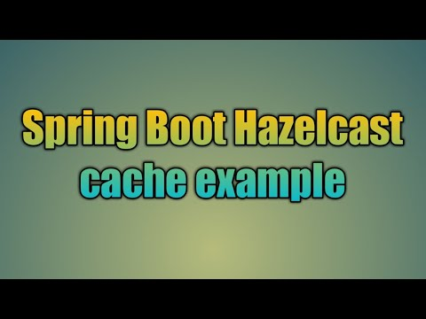 94 Spring Boot Hazelcast cache example
