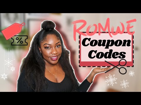ROMWE COUPON CODES FALL/WINTER 2020 | Over 20 Codes!