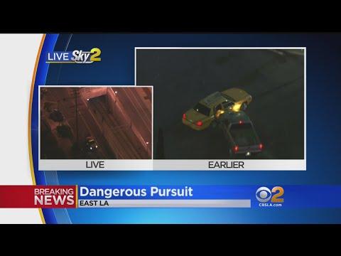 Stolen Truck Pursuit Ends At East LA Underground Gold Line Stop