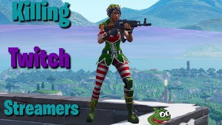 Killing Fortnite Streamers With Reactions #5 (He thought I was cheating...)